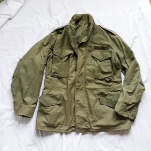 M-65 Army Patched Field Jacket OD Green L/XL